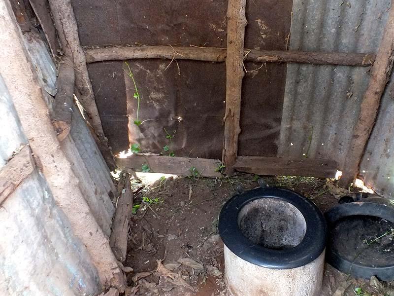 A pit toilet